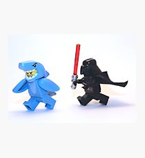 Lego Star Wars Darth Vader and Shark Suit Guy Pursuit Minifigure Photographic Print