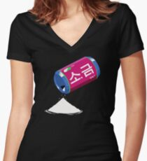 D.va´s Salt  Women's Fitted V-Neck T-Shirt