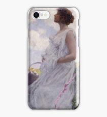 George Hitchcock - Calypso . Flowers. Woman Portrait . American Landscape iPhone Case/Skin