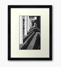 Rising shadows Framed Print