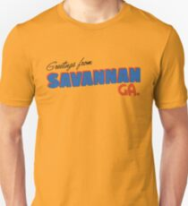 Camiseta ajustada Saludos desde Savannah