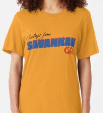 Greetings from Savannah Slim Fit T-Shirt