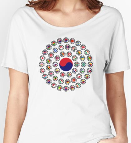 We Are Korea Multinational Patriot Flag Collective 1.0 Women's Relaxed Fit T-Shirt