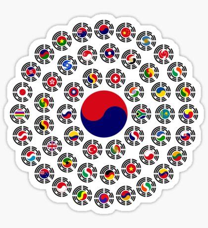 We Are Korea Multinational Patriot Flag Collective 1.0 Sticker