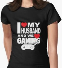 I love my Husband and we love Gaming Women's Fitted T-Shirt