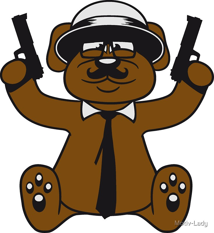 Gangster mafia gangster guns ties has horn glasses mustache nasty thug shoot robber thief raid teddy