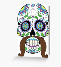 Zombie / Zombies Flower Face Greeting Card