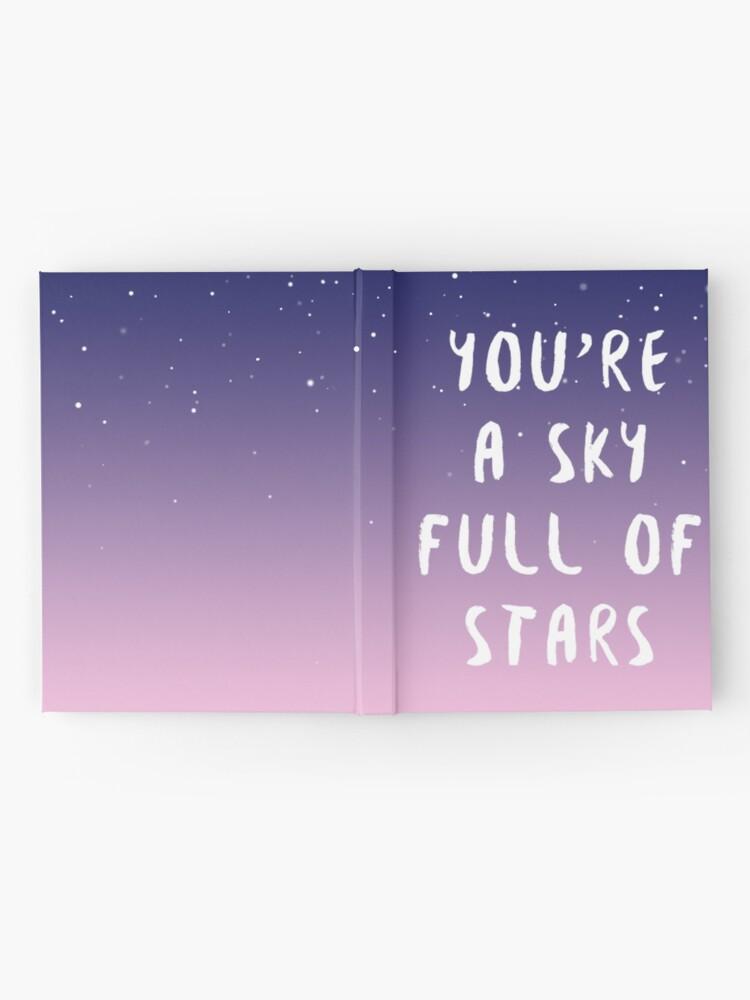 Alternative Ansicht von Himmel voller Sterne Notizbuch