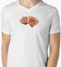 Two Peach Roses Men's V-Neck T-Shirt