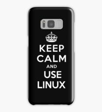 Keep Calm and You Linux T-Shirt Samsung Galaxy Case/Skin