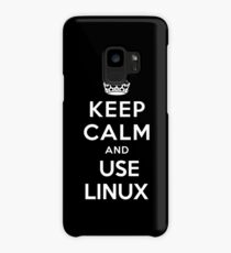 Keep Calm and You Linux T-Shirt Case/Skin for Samsung Galaxy