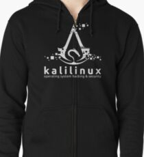 Kali Linux Operating System Hacking and Security Zipped Hoodie