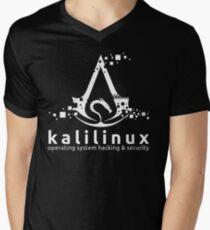 Kali Linux Operating System Hacking and Security Men's V-Neck T-Shirt