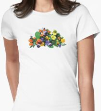 Patch of Pansies Pansies Womens Fitted T-Shirt