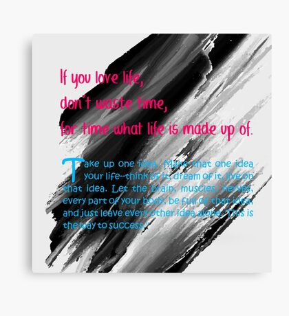 beautiful quotes Canvas Print