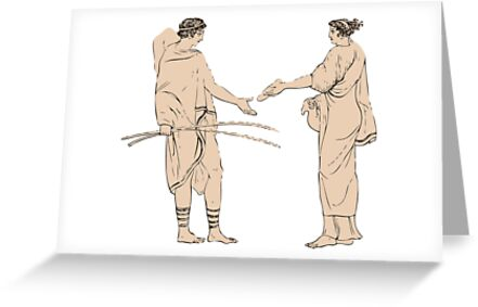 Ancient greek couple greeting cards by chris tregenza redbubble ancient greek couple by chris tregenza m4hsunfo Choice Image