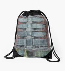 Building drawing Drawstring Bag