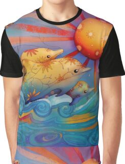 rainbow dolphins Graphic T-Shirt