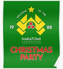 Nakatomi Corp Christmas Party 1988 T-Shirt Poster