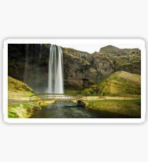 Seljalandsfoss Walking Bridge Sticker