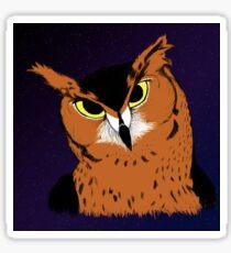 Great Horned Owl - Stars Sticker