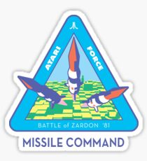 MISSILE COMMAND - ATARI CLASSIC PATCH Sticker