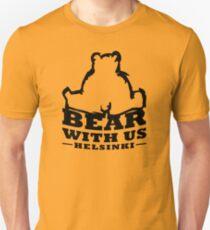Bear With Us Helsinki, Sitting heavy bear Slim Fit T-Shirt