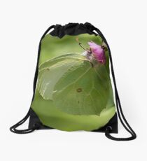 Brimstone Butterfly Drawstring Bag