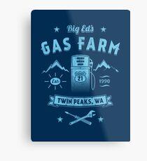 Big Ed's Gas Farm Metal Print
