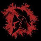 Spartan Dark Silhouette Logo by zachsymartsy
