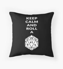 Keep calm and roll a d20 Throw Pillow