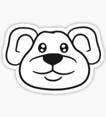 polar bear face head cute little teddy thick sweet cuddly comic cartoon Sticker