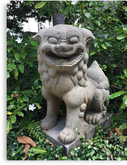 JAPANESE GARDEN LION STATUE By JanetKnapp