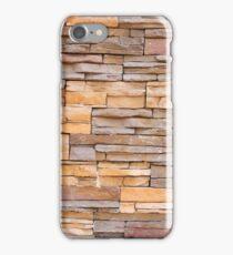 Horizontal Narrow Brick Facade iPhone Case/Skin