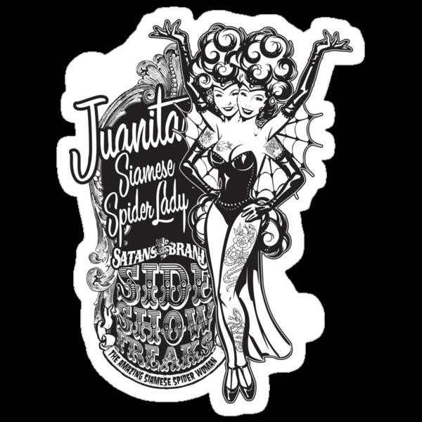 Side Show Freaks - Juanita Siamese Spider Lady by Rob Stephens