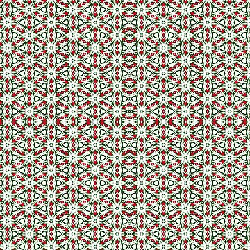 Festive Geometrics | Green Red White by ARTDICTIVE
