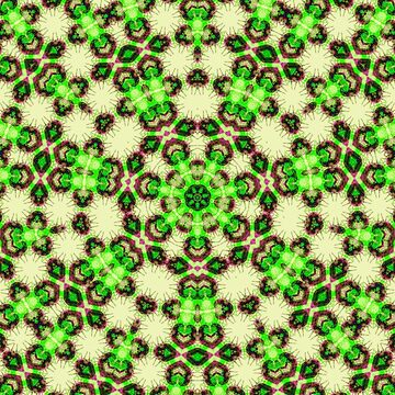 Fresh Green Energy Geometric Pattern by ARTDICTIVE