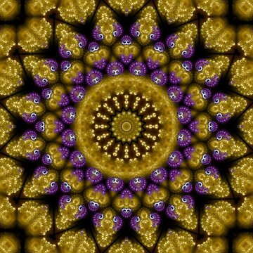 MAYANI - Gold Purple Geometric Pattern by ARTDICTIVE