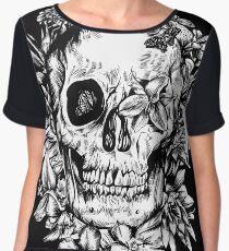 floral skull 1 Chiffon Top