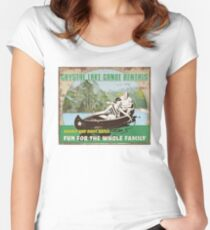 Crystal Lake Canoe Rentals Women's Fitted Scoop T-Shirt