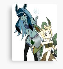 Glaceon and Leafeon Metal Print