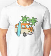 Retro Beach Scene Unisex T-Shirt