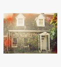 Vintage Stone Cottage Photo- Lomo effects Photographic Print