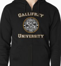 Gallifrey University Zipped Hoodie