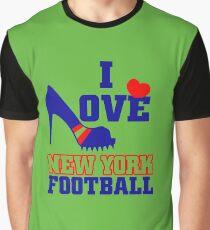 I love New york Football Graphic T-Shirt