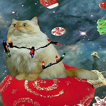 xmas cat by taco-elgato