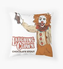Laughing Clown Chocolate Stout Throw Pillow