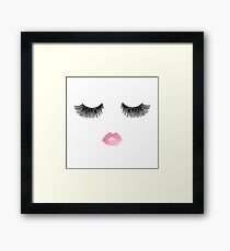 Fashion Eyelashes Framed Print