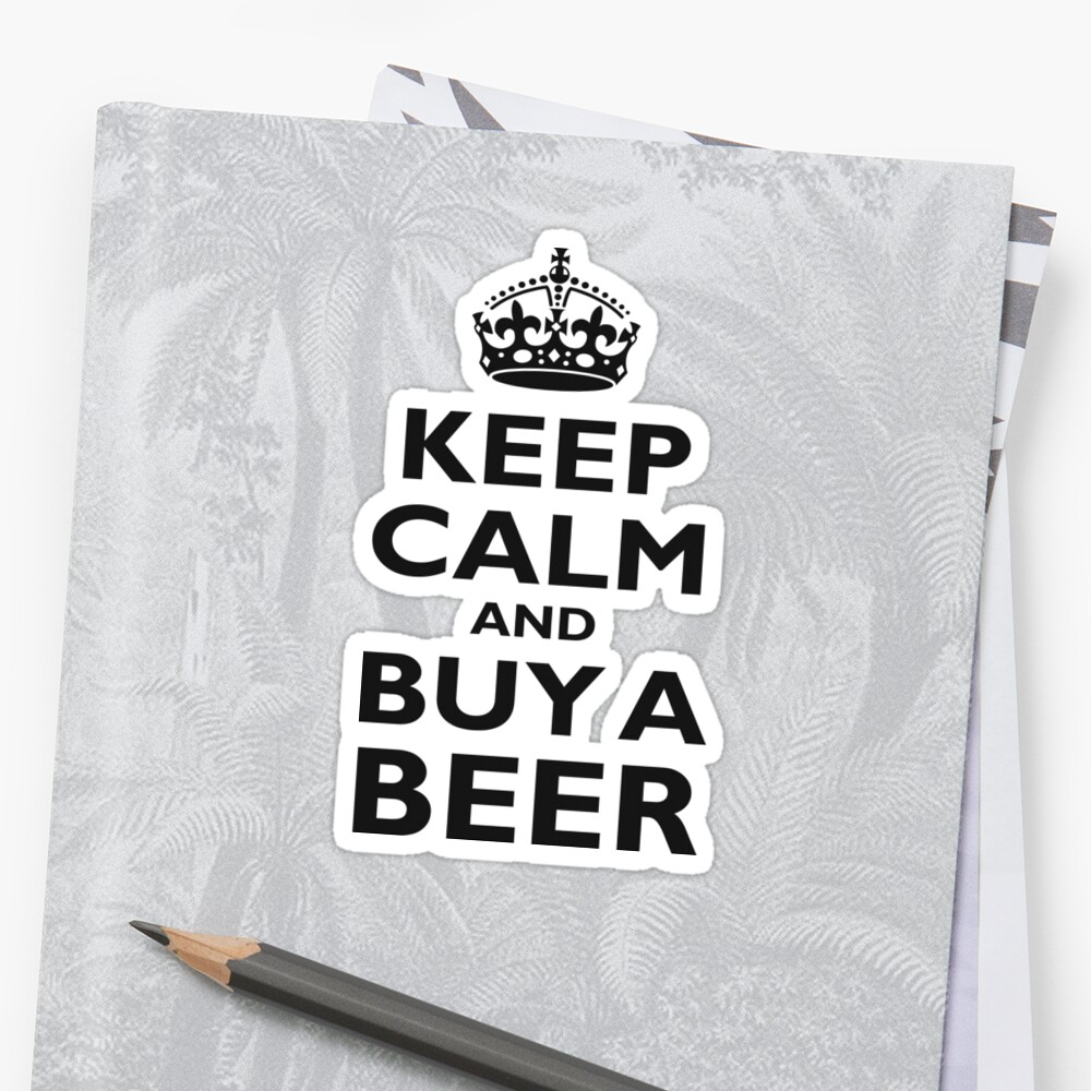 KEEP CALM, BUY A BEER, ON RED, UK, GB, British by TOM HILL - Designer