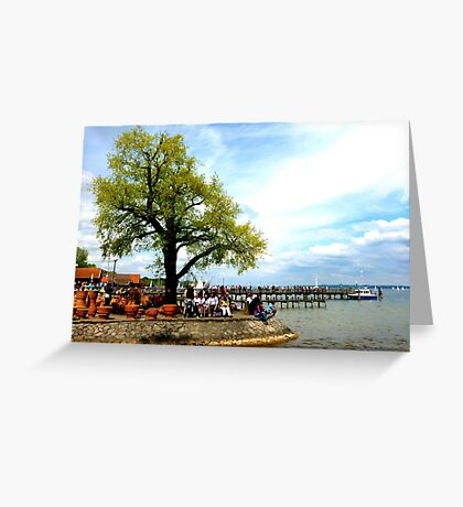 Ammersee pier Greeting Card